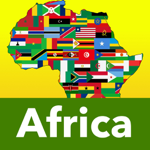 アフリカ 国旗と地図